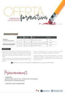 Inscripción a los cursos y talleres de la Formación Permanente de Adultos (FPA) -Teulada Moraira- @ SIT (Servicio de Información y Tramitación) de Teulada Moraira