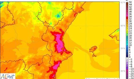 El Poniente dispara las temperaturas hasta los 34º en la Marina Alta