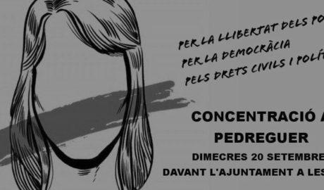 Concentración en Pedreguer contra las detenciones en Cataluña