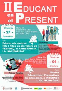 """II edición de los talleres """"Educando en el presente"""": educar en los valores del esfuerzo, la constancia y la solidaridad por Jesús Ruiz -Dénia- @ Salón de actas de la Casa de Cultura, Dénia"""