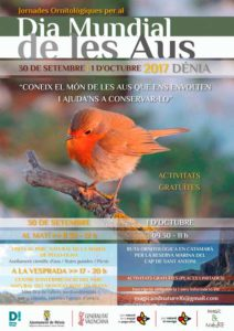 Jornada ornitológica: ruta por el Parque Natural de la Marjal de Pego con el ornitólogo Francisco Atiénzar -Dénia- @ Punto de encuentro: Torrecremada, Dénia