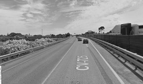 La carretera de entrada a Dénia, la más congestionada y la más ruidosa
