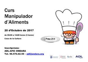 Curs de Manipulador d'Aliments -Ondara- @ Casa de Cultura d'Ondara