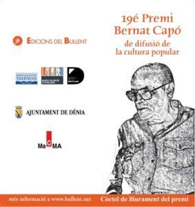 Entrega del XIX Premi Bernat Capó i actuació de Jaume Ginestar -Dénia- @ Teatre Auditori del Centre Social de Dénia