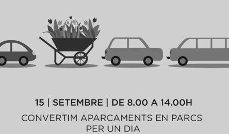 Gata convierte por un día los aparcamientos en parques