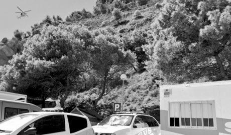 Els Bombers rescaten una senderista en la falla del Moraig amb una fractura de turmell