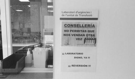 Marina Salud logra privatizar el laboratorio del Hospital gracias a una cláusula que le permitió el Consell de Camps