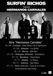 Rock: Surfin' Bichos presentan 'Hermanos Carnales' + concierto de Mox Nox y Heatwaves -Pedreguer- @ Rockòdrom de Pedreguer.