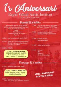 Primer Aniversari de l'Espai Veïnal Antic Institut: concerts, jocs, tallers... -Pego- @ Espai Veïnal Antic Institut (Pego)