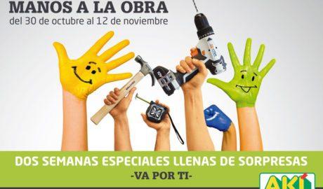 """Arranca la segunda edición solidaria """"Manos a la obra"""" de AKI Bricolaje"""