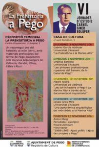 Conferència: '1868-1869: Ajust polític i ajust de comptes a Pego' per Antoni Reig i Ricard Llompart. VI Jornades d'Estudis Carmel Giner Bolufer -Pego- @ Casa de Cultura de Pego | Pego | Comunidad Valenciana | España