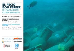 Exposición fotográfica sobre El Pecio Bou Ferrer -Benissa- @ Seu Universitària de la Marina, Benissa