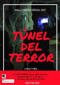 Fiesta de Halloween 2017: tunel del terror, animación, música... -Dénia- @ plaza del Consell, Dénia
