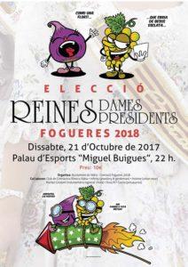 Gala de l'Elecció de la la reina i les dames d'honor de les Fogueres 2018 -Xàbia- @ Palau d'Esports Miguel Buigues Andrés, Xàbia