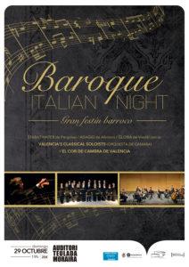 Concierto: 'Baroque Italian Night' por la Valencia's Classical Soloists y el Cor de Cambra de València -Teulada- @ Auditori Teulada Moraira | Teulada | Comunidad Valenciana | España