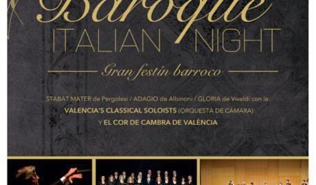 Concierto: 'Baroque Italian Night' por la Valencia's Classical Soloists y el Cor de Cambra de València -Teulada-