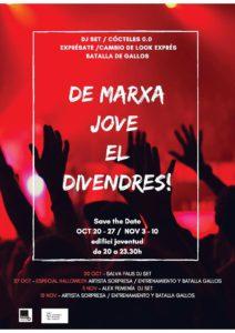 'Viernes de marcha joven': música con Jaloner, taller de canciones y de maquillaje. Halloween 2017 -Dénia- @ Club 0,0 de Juventud (antigua cafetería Llunàtics), Dénia