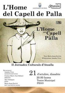 """Música, art, literatura i dansa pel Grup Onades: """"L'home del capell de palla"""" -Pego- @ Teatre Municipal de Pego"""