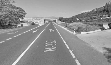 Dos heridos en un nuevo accidente en la N-332 en Pedreguer