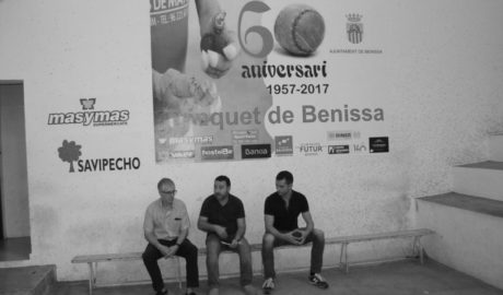 Un cartel de jugadores de la comarca para conmemorar los 60 años del Trinquet de Benissa
