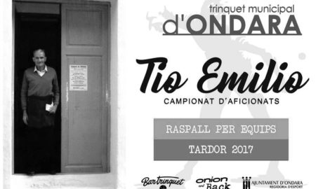 El Trinquet de Ondara impulsa un campeonato de aficionados del 21 de octubre al 25 de noviembre