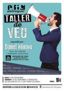 Taller de Veu impartit per l'actor Daniel Minayo -Pedreguer- @ Espai Cultural, Pedreguer