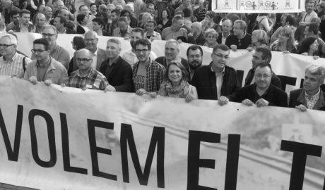 La Marina Alta, convocada en Oliva a una nueva protesta para forzar al Gobierno a hacer el tren Gandia-Dénia
