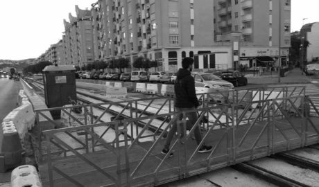 Cierre del paso peatonal del Camí dels Lladres en Dénia por las obras del TRAM