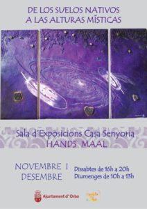 Exposició de pintura: 'De los suelos nativos a las alturas místicas' de l'holandés Hands Maal -Orba- @ Casa la Senyoria, Orba