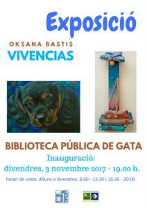 Exposición de pintura y escultura: 'Vivencias' de Oksana Bastis -Gata de Gorgos-