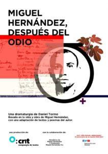 Teatro: Crit Companyia de Teatre presenta 'Miguel Hernández, después del Odio' -Calp- @ Saló Blau - Casa de Cultura, Calp