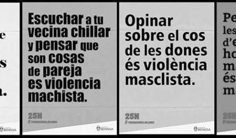 """Ni """"ir de putas"""" ni """"mariconadas"""", así combate Benissa el machismo"""