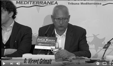 El VÍDEO de Grimalt en el Fórum Europa: «Hay zonas de Dénia que son pueblos muertos diez meses al año»
