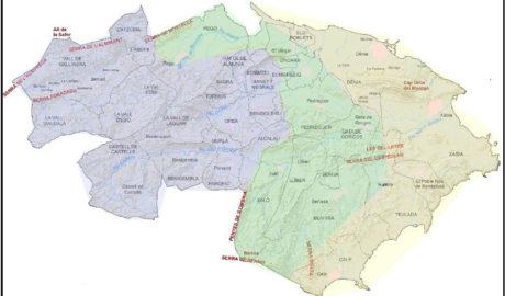 Las tres comarcas de la Marina Alta