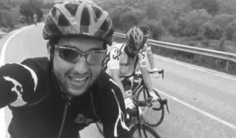 Andrés Contreras vuelve a subirse a una bicicleta siete meses después del mortal atropello de Oliva