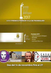 Exposició dels XXVI Premis d'Honor Vila de Pedreguer -Pedreguer- @ Casa Municipal de Cultura, Pedreguer