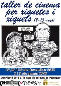 Taller de cinema per a xiquets i xiquetes -Pedreguer- @ Casa de Cultura de Pedreguer