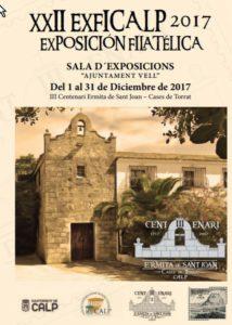 ExfiCalp 2017: exposición filatélica -Calp- @ sala de exposiciones de l' Ajuntament Vell, Calp