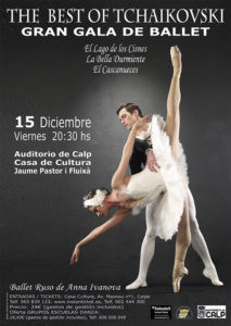 "Danza: el Ballet Ruso de Anna Ivanova presenta ""The best of Tchaikouski"" -Calp- @ Auditori de Calp"