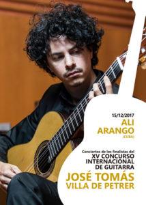 Concierto de de guitarra a cargo del cubano Ali Arango -Dénia- @ Teatre Auditori del Centre Social, Dénia