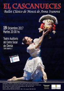 Danza: 'El cascanueces' por el Ballet Clásico de Moscú de Anna Ivanova -Dénia- @ Teatre Auditori del Centre Social, Dénia