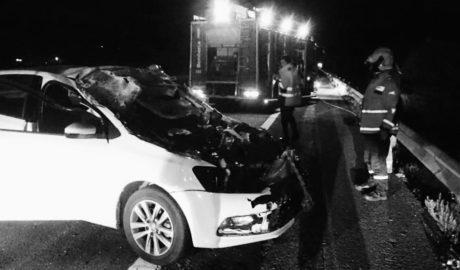 Un herido al empotrar su coche contra un camión en la AP-7 entre Ondara y Gata