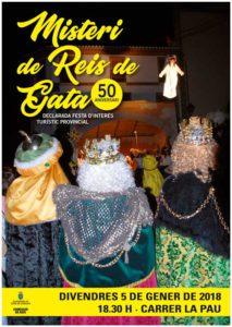 Bàndol anunciant l'arribada dels Reis Mags d'Orient -Gata de Gorgos- @ carrer La Pau, Gata de Gorgos