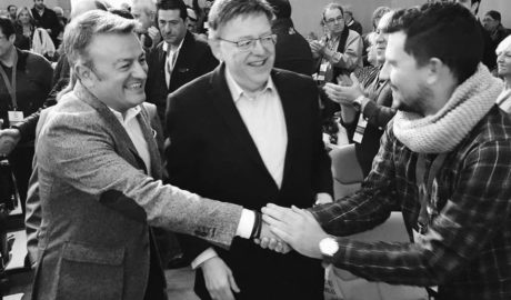 Henarejos y Guillem Sendra arropan a Chulvi en su difícil inicio como líder del PSPV de Alicante