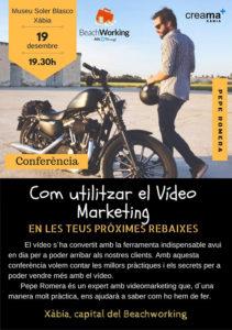 Jornada formativa sobre vídeo marketing por Pepe Romera @ sala multiusos del Museo Soler Blasco, Xàbia