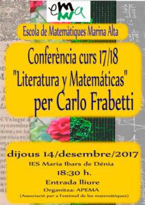Conferencia: 'Literatura y matemáticas' por Carlo Frabetti -Dénia- @ IES Maria Ibars de Dénia