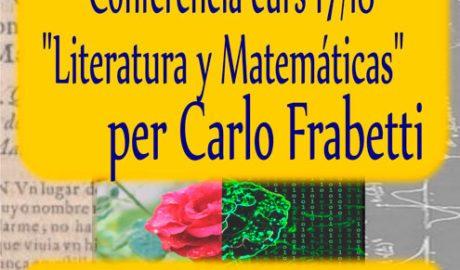 Conferencia: 'Literatura y matemáticas' por Carlo Frabetti -Dénia-