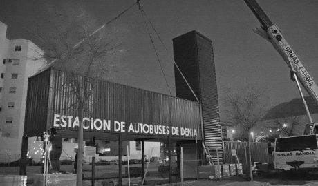 La nueva estación de autobuses de Dénia toma cuerpo