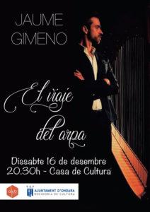 Concierto: 'El viaje del arpa' por Jaume Gimeno -Ondara- @ Auditori Municipal. Ondara