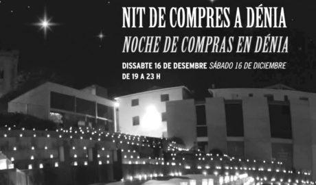 Més de 7.000 espelmes per il·luminar les compres nadalenques a Dénia